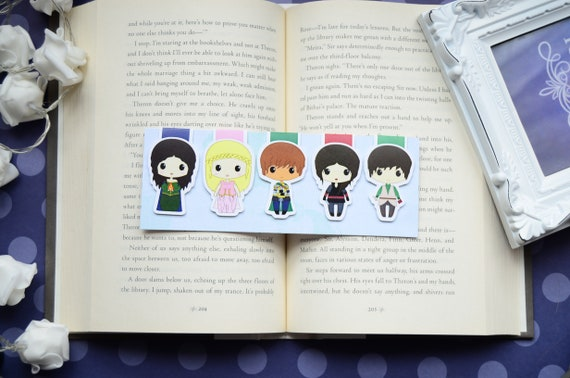 Furyborn inspired bookmarks\u2014 2x7 inches\u2014 cardstocklaminated\u2014 bookish gift\u2014 bookish
