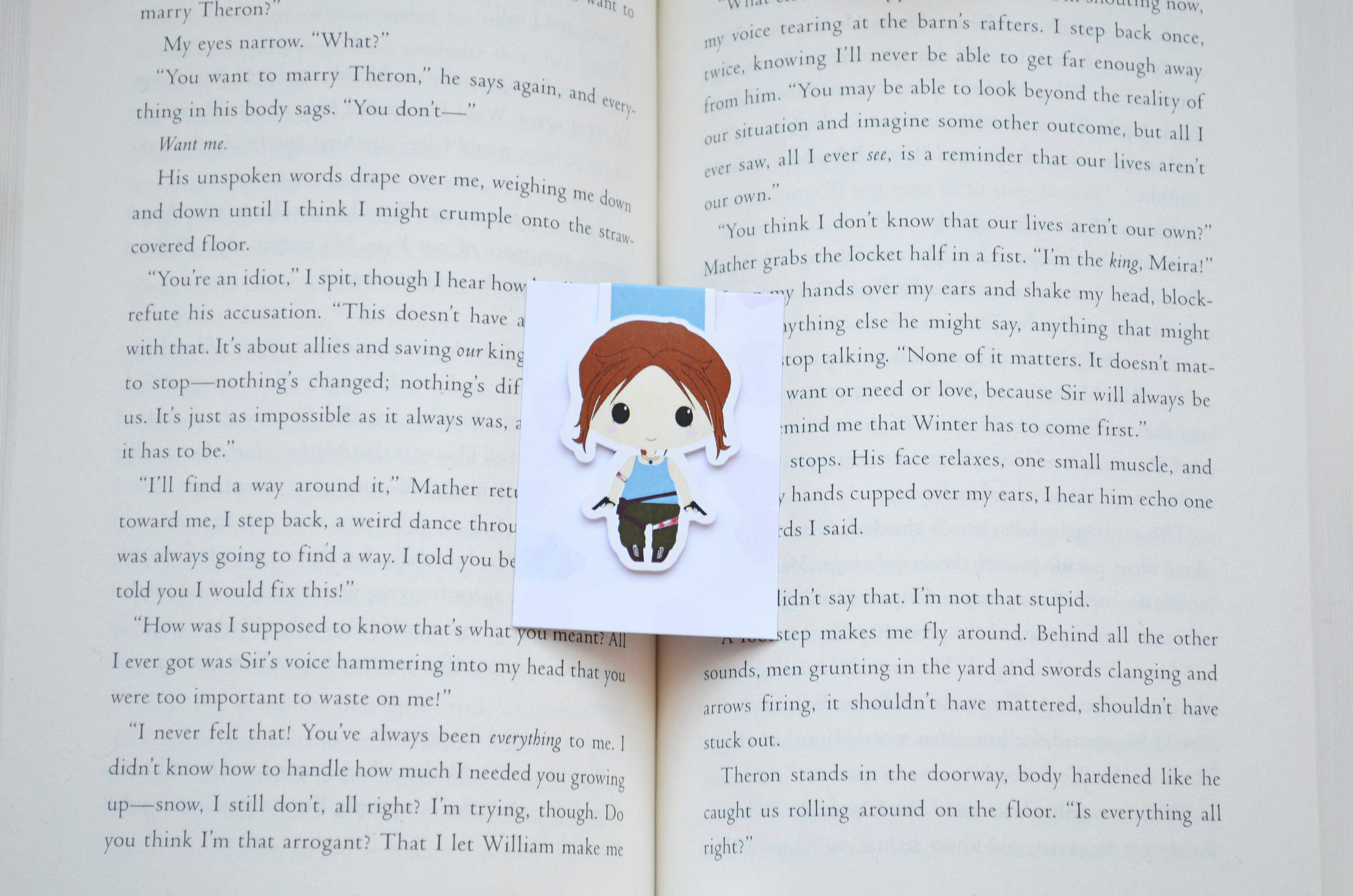 Lara croft magnetic bookmarks