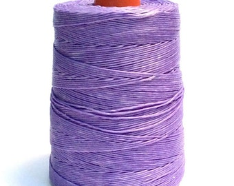 100 meters ≈ 110 yards - 1mm Light Purple Waxed Cord - Lavender Colour - Cotton Waxed Cord