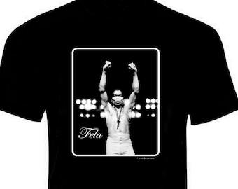 Fela Kuti Iconic Afrobeat T Shirt Black