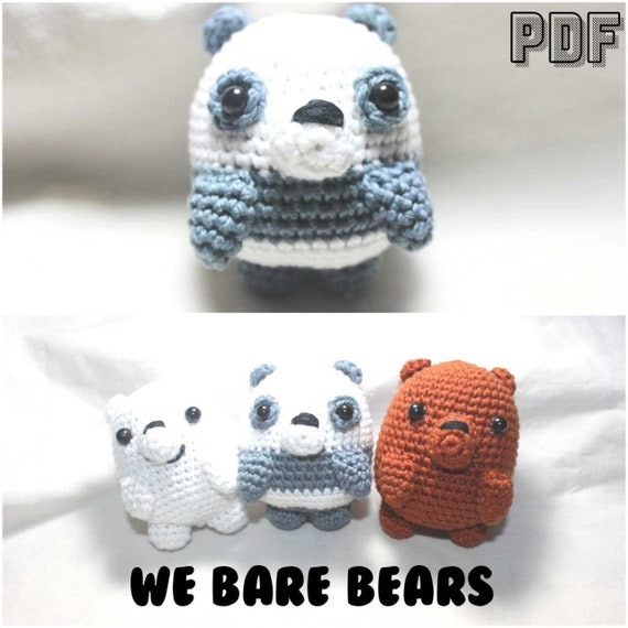 We bare bears crochet #webarebears #crochet #cute #amigurumi ... | 570x570