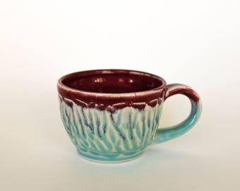 Ceramic mug, Handthrown Ceramic Mug, Pottery Mug, Coffee Mug Pottery, Pottery Mug, Handmade mug