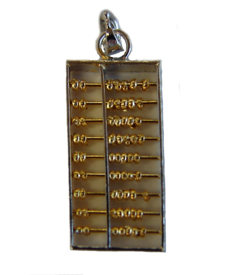 925 Sterling Silver Feng Shui Abacus Pendant