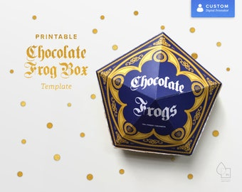Harry Potter Party Printable Chocolate Frog Box Template