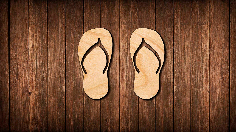 Flip Flop señal de pared de sandalias / la vida es mejor en /   Etsy
