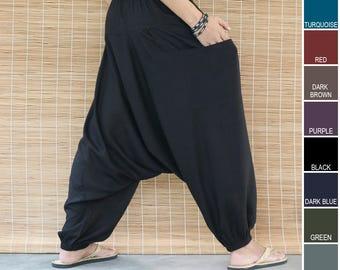 e9e9ceac8fa Unisex Harem Pants with Side Pocket