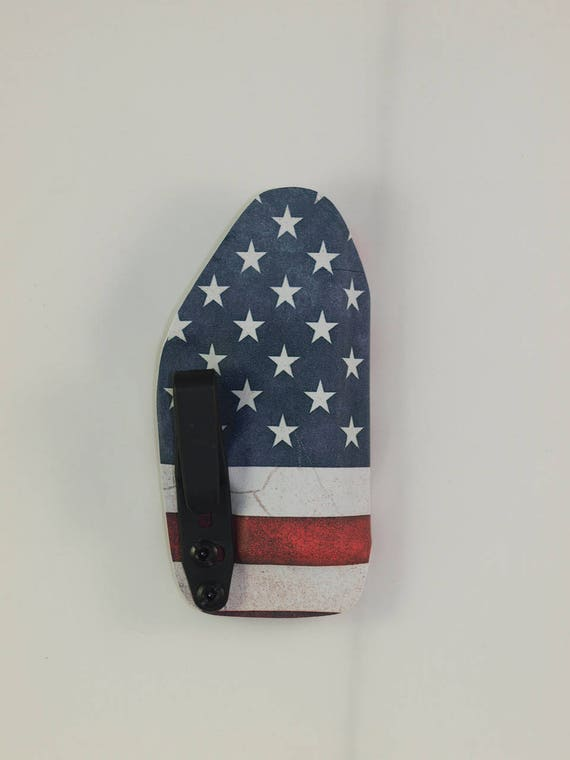 Kydex IWB holster for Kahr CW9 Flag//Don/'t Tread on InvisiHolsters