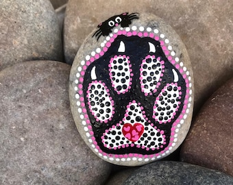 Cat Paw Print - Hand Painted