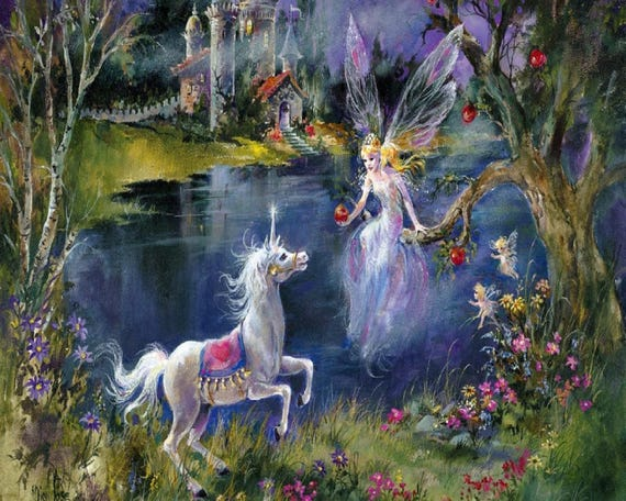 Buy 2 Get 1 Free Unicorn And Fairy Fantasy Land 109 Cross