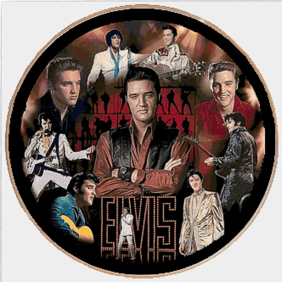 Full counted cross stitch kit all materials needed ELVIS PRESLEY