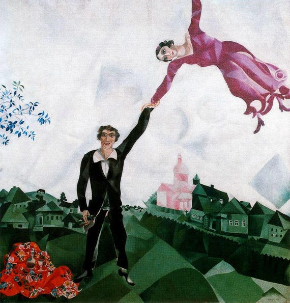 Buy 2 Get 1 Free Marc Chagall The Walk 644 Cross Stitch Etsy