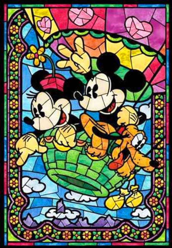 BUY 40 GET 40 FREE Mickey And Minnie Disney Stained Glass 4006 Etsy Delectable Stained Glass Patterns For Sale