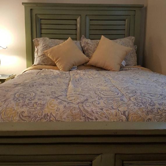 queen bed etsy. Black Bedroom Furniture Sets. Home Design Ideas