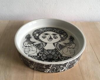 Bjørn Wiinblad – large flat round dish – 3029-1285