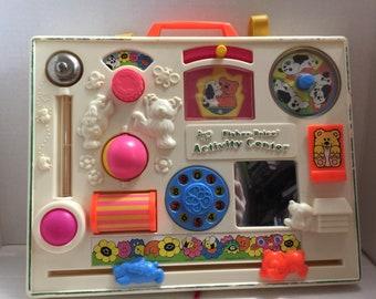 Vintage crib activity center