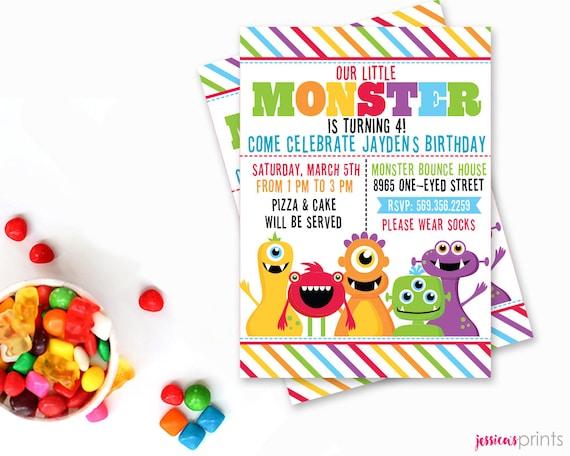 Mestizos de monstruo partido invitación imprimible invitación | Etsy