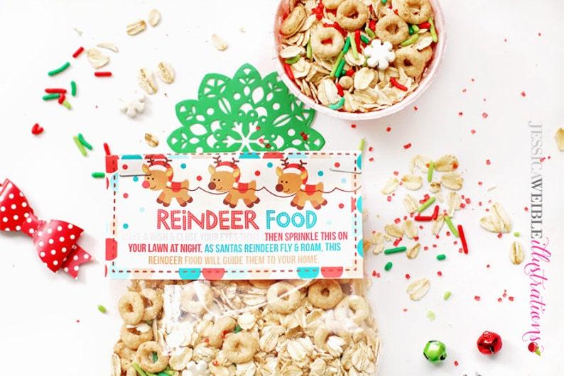 picture regarding Reindeer Food Printable known as Reindeer Meals Printable Bag Toppers, Xmas Social gathering Bag Labels, Printable Xmas Reindeer Food items Labels, Bash Address Bag Topper, Xmas
