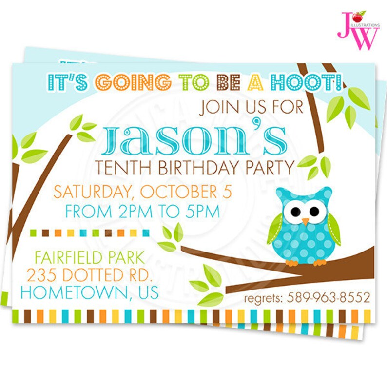 photo about Printable Owls known as Boys Polka Dot Owls Get together Printable Invitation, Customized Owl Get together Invitation, Printable Owl Birthday Bash Invitation, Hoot Owl Bash Invite