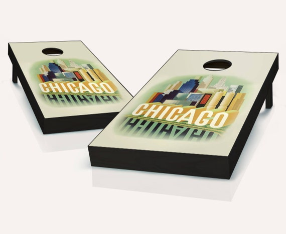 Strange Chicago Poster Cornhole Boards Regulation Size Game Set Baggo Bean Bag Toss 8 Aca Regulation Bags Pdpeps Interior Chair Design Pdpepsorg