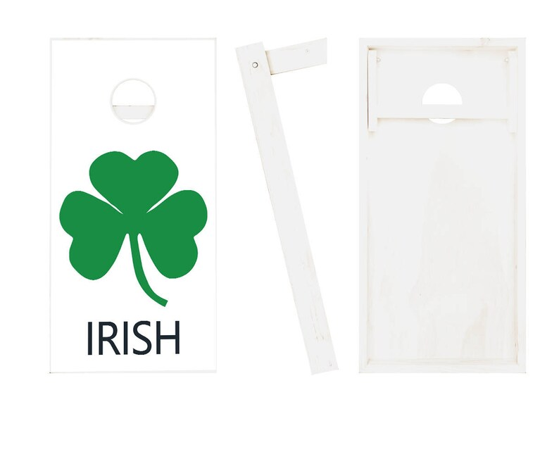 8 ACA Regulation Bags Irish SHAMROCK Cornhole Boards Regulation Size Game Set Baggo Bean Bag Toss