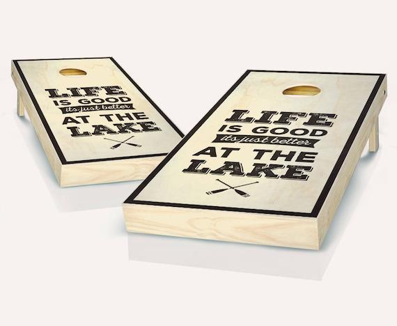 CORNHOLE BOARDS GAME SET Bean Bag Toss 8 ACA Regulation Size Bags ~