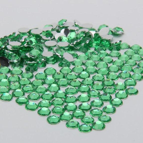 800pcs 4mm 14 Facets Crafts Resin Rhinestone Gems Flat Back Crystal Beads Green