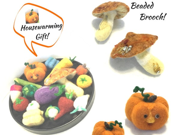 Felted Table Centrepiece - Festive Housewarming Gift - Halloween Gift - Needle Felted Wool Sculptures - Friendship Gift - Hostess Gift