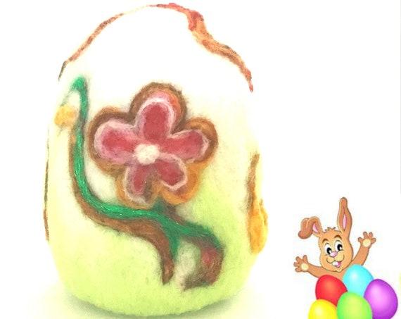 Easter Egg - Felt Easter Egg - Floral Egg Table Decor - Cherished Gift - Collectors Item - Unique Easter Egg Gift - Australian Wandarrah