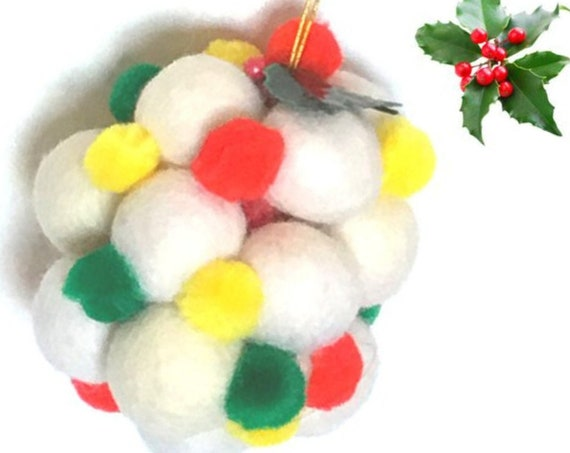 Hanging Xmas Tree Decor - Felt Ball Cluster - Xmas Tree Decor - Unique Xmas Gift - Felt Xmas Gift - Australian Wandarrah - Hostess Gift