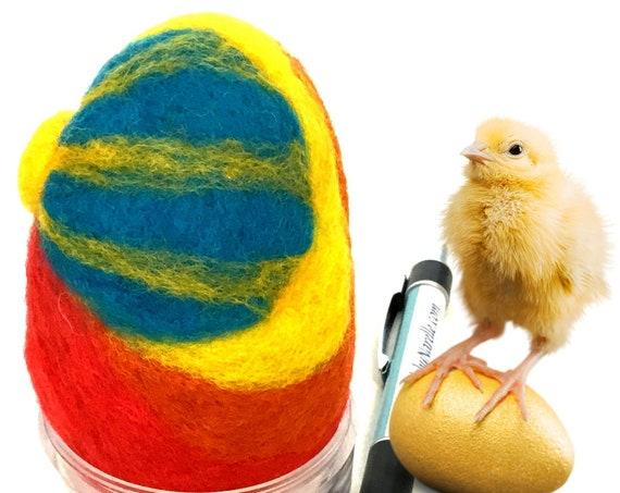 Wool Easter Egg - Sunrise Easter Egg - Red Felted Egg - Easter Table Decoration - Special Keepsake - Easter Egg Gift - Gift for Collector