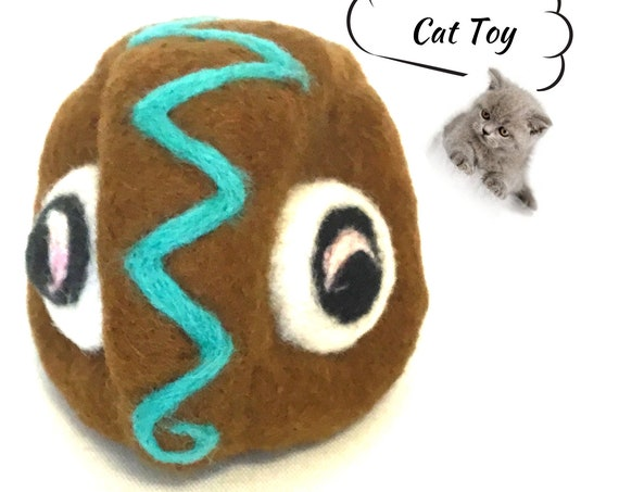 Felted Cat Toy - Mystery Mate Wool Toy - Needle Felted Cat Toy - Wool Sculpture - Cat Lover Gift - Felted Wool Toy - Hand Felted Cat Toy