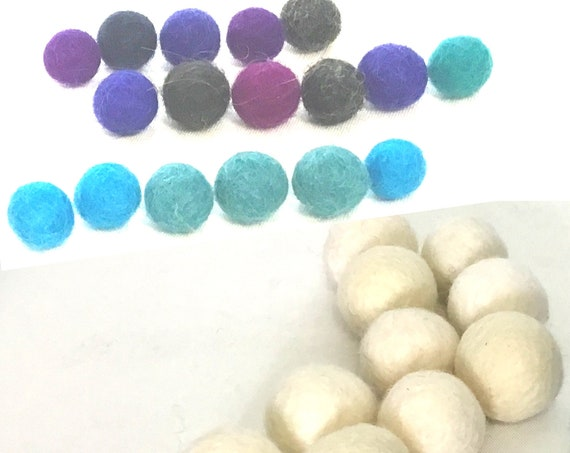 Round Felt Beads - Assorted Felt Balls for Craft Jewellery - Needle Felted Wool Jewellery - Unique Decor for Bespoke Jewellery