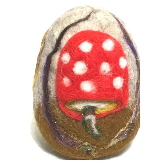 Felt Easter Egg - Mushroom Egg Table Decor - Friendship Gift - Cherished Gift - Collectors Item - Unique Easter Gift - Australian Wandarrah