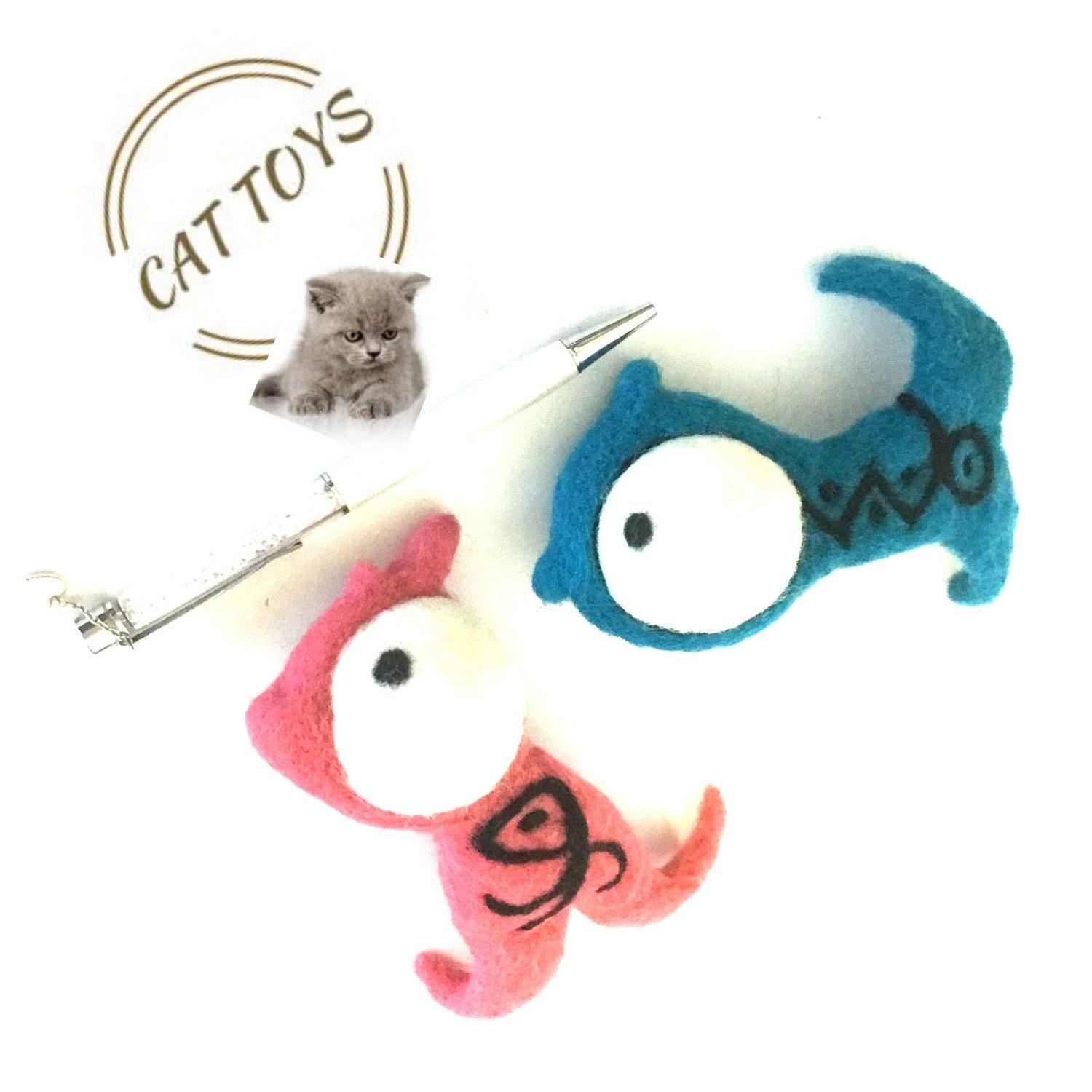 cute fish cat toys felted catnip toys felted wool cat play toys