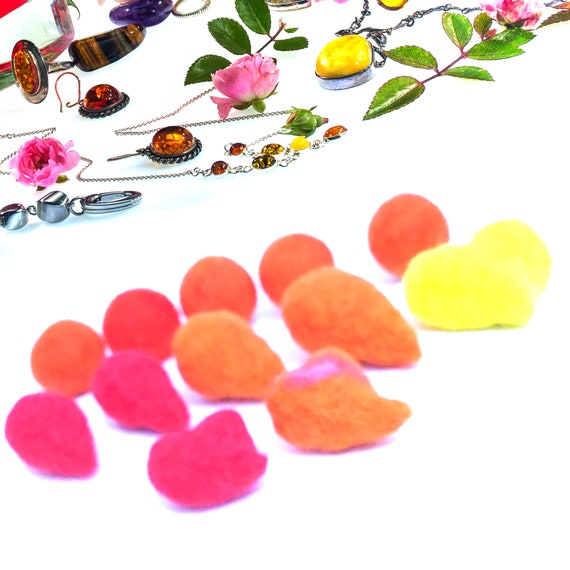 Hand Felted Beads - Mix and Match for Craft Jewellery - Needle Felted Wool Beads - Stunning Decor for Bespoke Jewellery