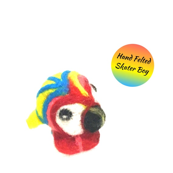 Needle Felted Fantasy Parrot - Miniature Dolls House Parrot - Friendship Gift - Fantasy Wool Parrot - Appreciation Gift - Hostess Gift