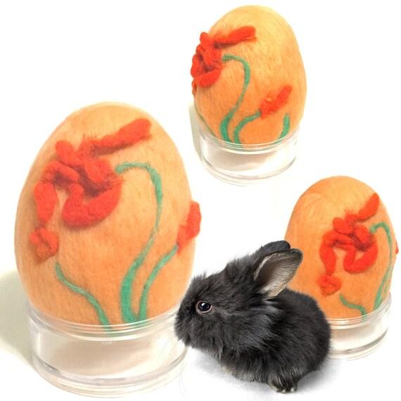 Wool Easter Egg - Felted Egg - Red Floral Egg Table Decor - Cherished Gift - Collectors Item - Unique Easter Gift - Australian Wandarrah