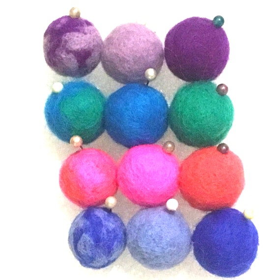 Hand Felted Wool Balls - Round Wool Balls - Assorted Felt Balls for Craft Jewellery - Unique Decor for Bespoke Jewellery - Crafters Gift