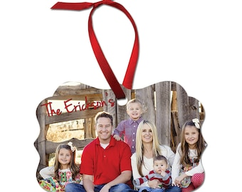 Fancy Shaped Full Color Ornament customized with your photo and  artwork-Now with FREE SHIPPING