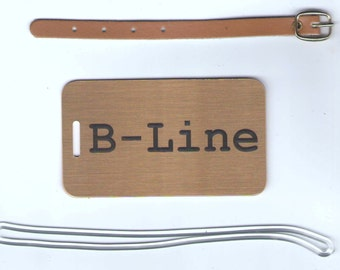 Solid Brass Luggage Tags now with FREE SHIPPING