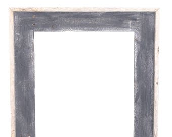 BarnwoodUSA | Reclaimed Open Artisan Picture Frame | No Glass, or Backing | Smoky Black