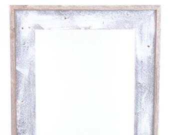 BarnwoodUSA | Reclaimed Open Artisan Picture Frame | No Glass, or Backing | White Wash