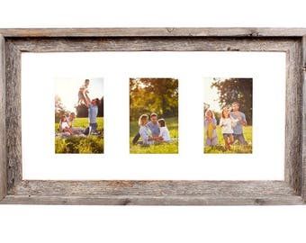 3 opening 5x7 frame international designs barnwoodusa multi opening mat with 100 reclaimed wood frame 3 opening white for 4x6 and 5x7 opening frame etsy