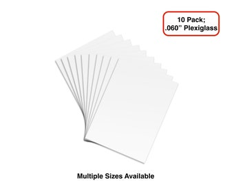 "10 Sheets of  .060"" PETG, Clear Styrene/Plexiglass"