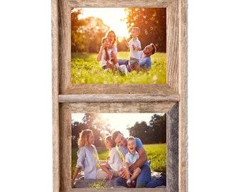 BarnwoodUSA Signature 2 Collage Photo Frame - 100%  Genuine Reclaimed Wood