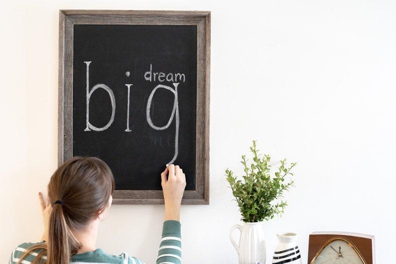 Framed Chalkboard Sign Chalkboard Sign  Rustic Reclaimed image 5