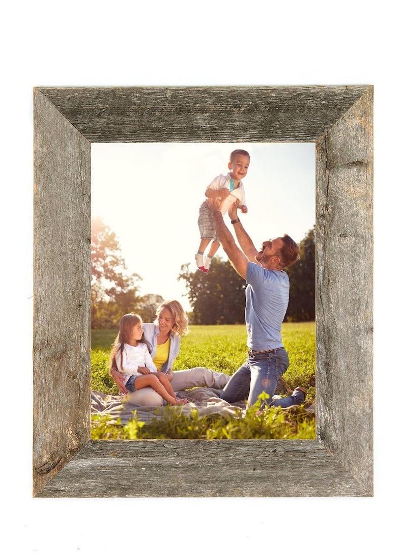 Rustic Wood Frame Barnwood Picture Frame Reclaimed Wood image 0
