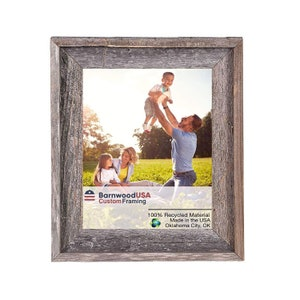 BarnwoodUSA Signature Picture Frame 100/% Reclaimed Wood
