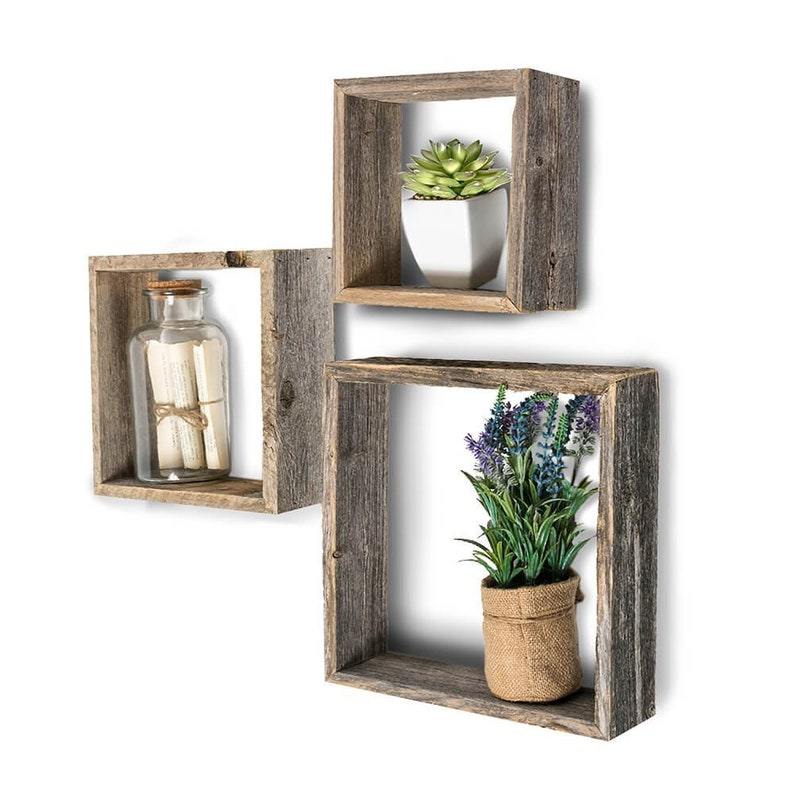 Excellent Floating Shelves Set Of 3 Wall Shelf Wall Shelves Box Shelves Reclaimed Wood Shelves Wooden Shelves Rustic Wall Decor Download Free Architecture Designs Scobabritishbridgeorg