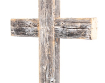 Rustic Wooden Wall Cross   Decorative Cross  Reclaimed Wood Wall Cross  Wood Cross (Additional Colors Available)